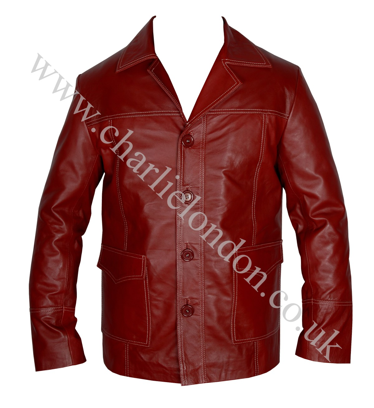 Brad Pitt Fight Club Red Coat