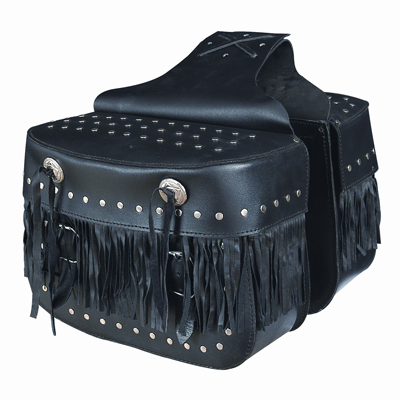 Fringe Motorcycle Saddle Bag