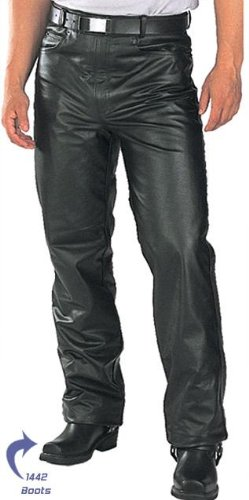 Classic Fitted Biker Motorcycle & Men's Leather Trouser