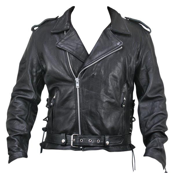 Armored Black Leather Classic Biker Jacket