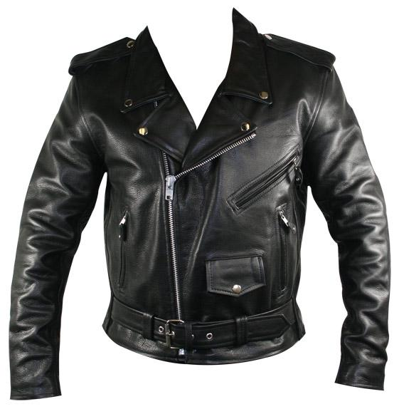 Men's Premium Leather with Zip-out lining Classic Biker Jacket