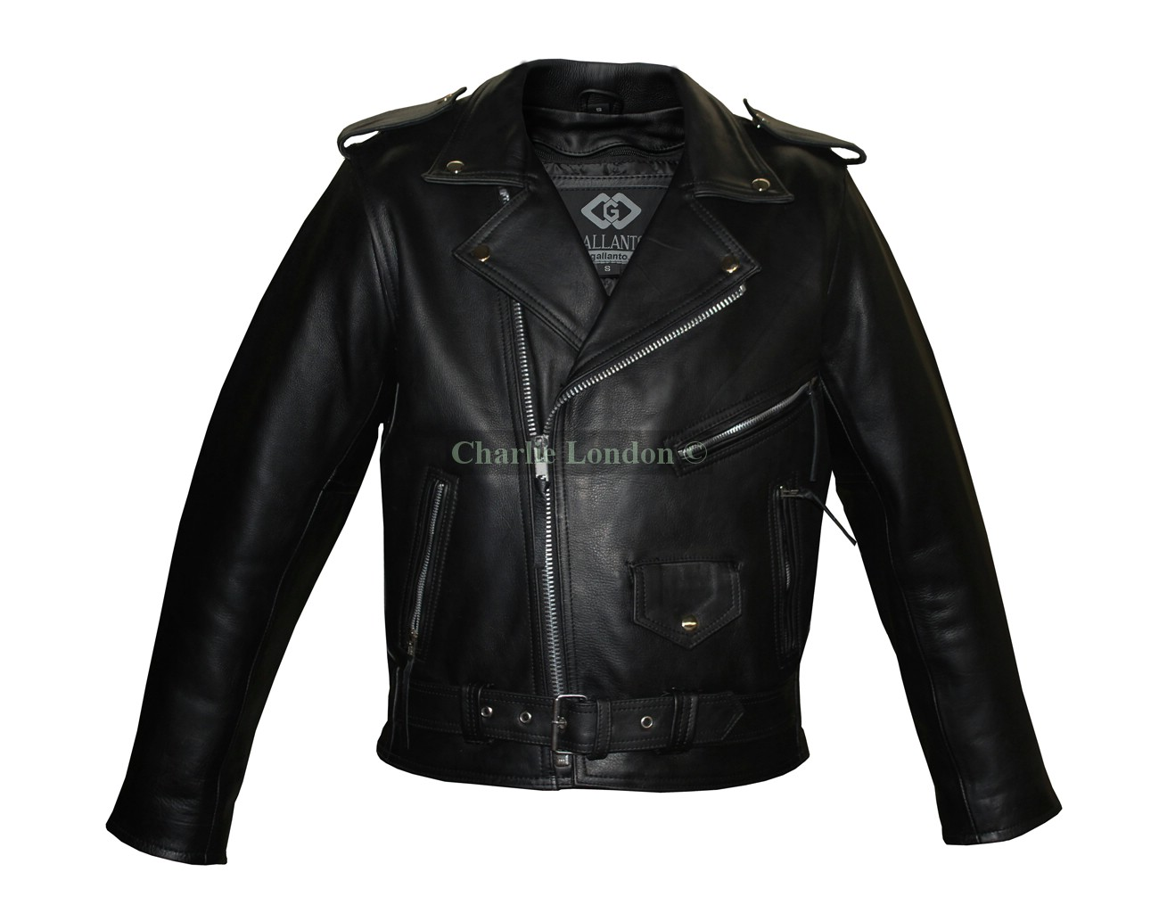 Naked Cowhide Belted Brando Motorbike Jacket
