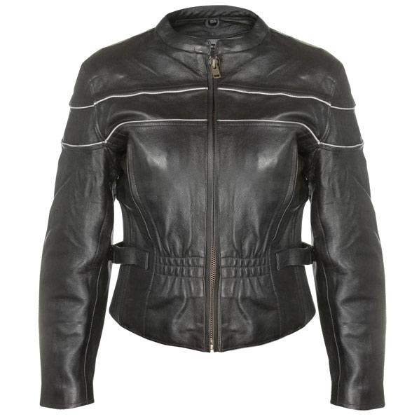 Women's Premium Leather Motorcycle Jacket with Level-3 Advanced Armor